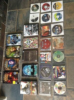 Huge Lot 25 PC Games Call Duty World Warcraft Sims Lord Rings Etc Few Incomplete