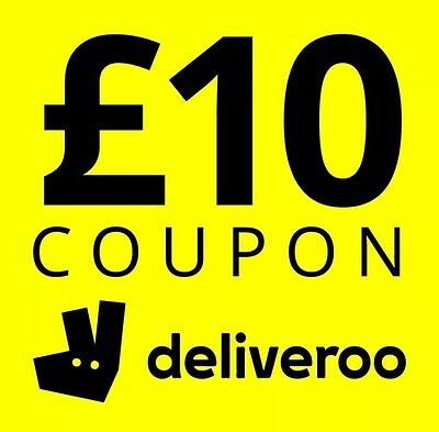 £10 Off Deliveroo Voucher Code Coupon Promo Discount Gift Card
