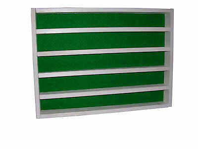 50 thimble display rack in white with green felt back