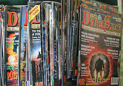 LARGE COLLECTION 46 ISSUES THE DARK SIDE MAGAZINE c1997-2006 GOOD CONDITION