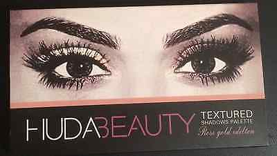 Huda Beauty - Rose Gold Edition Textured Eye Shadow Palette Makeup Cosmetics.
