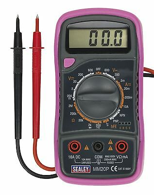Sealey Pink Digital Multimeter 8 Function with Thermocouple