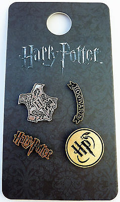 Neu Harry Potter Hogwarts 4 Pins Anstecker Badges Brosche Button Schmuck Primark