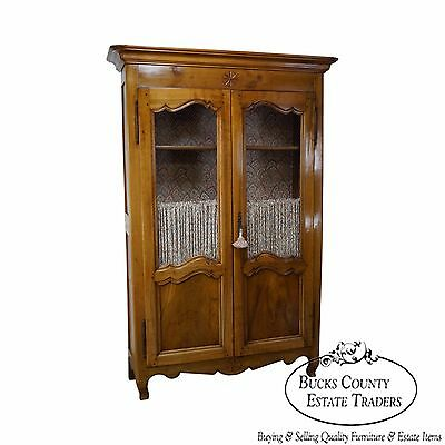 Antique 18th Century French Fruitwood Bookcase Armoire Cabinet