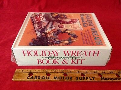 Holiday Wreath and Book Set Kit New In Wrap DIY Decoration Set Christmas