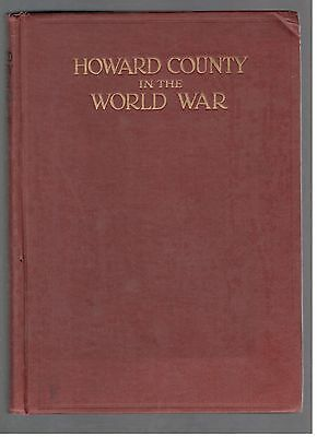 WW1 History of Howard County IN with Names of Men who Served