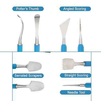 Xiem Ultimate Joining and Smoothing/Marrying Clay Tool Set, Scoring, Serrated