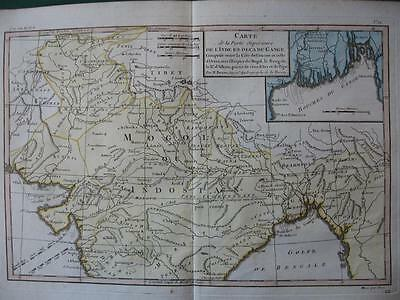1780s - BONNE - Map  Northern INDIA  Mogol