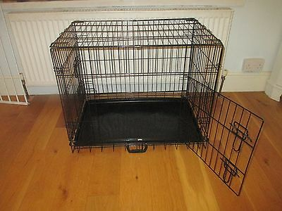 Medium  Dog Puppy  Pet  Folding Cage  Crate from Argos. Carry handle travel