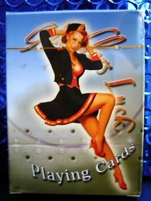 Gambler's Luck Sexy Bomber Girl Playing Cards Designed by Artist Joaquin Palacin