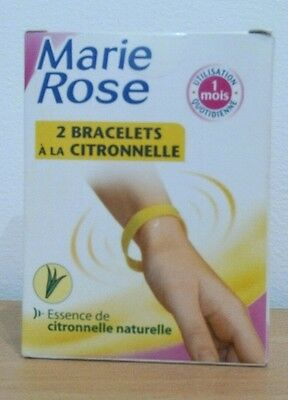 Marie Rose - 2 Bracelets A La Citronnelle - Anti Moustique - Dlc 06/2017
