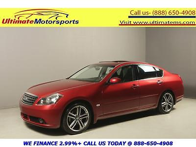 2007 Infiniti M45  2007 INFINITI M45 NAV SUNROOF LEATHER HEAT/COOL SEATS RCAM PEARL RED