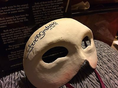 Signed Phantom of the Opera Souvenir Mask - signed by Franc D'Ambrosio SF 1995