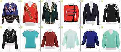 """JOB LOT OF 25 VINTAGE WOMEN""""S KNITS - Mix of Era's, styles and sizes (18813)*"""