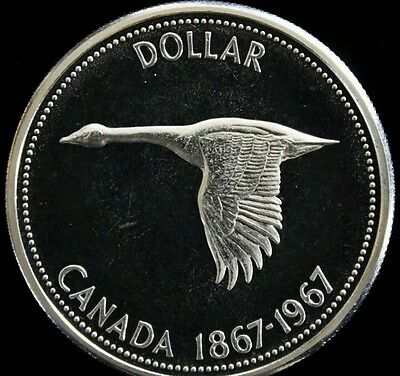 1867 1967 Canada Goose Silver Dollar Uncirculated Coin Mint