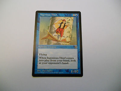 1x MTG Ingenious Thief-Ladro Ingegnoso Magic EDH Portal POR ING Inglese x1