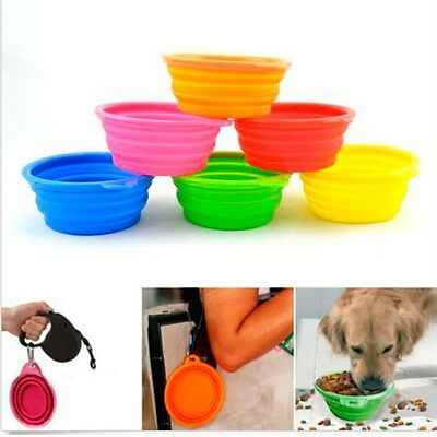 Latest Pet Cat Portable Collapsible Travel Silicone Water Feeding Bowl Feeder