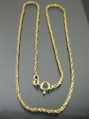 VINTAGE 9ct GOLD TINSEL LINK NECKLACE CHAIN 18 inch 1975