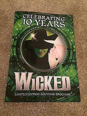 Wicked the Musical 10th Birthday Limited Edition Souvenir Programe Kerry Ellis