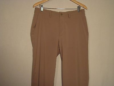 Under Armour Golf Pants Beige Straight Leg Embroidered NWOT