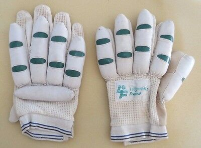 Vintage Left Handed Cricket Batting Gloves By Lillywhite Fround C 1960