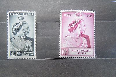 Solomon Islands 1948 Silver Jubilee MH