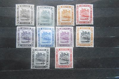 Brunei 1947 part set to $1 MH