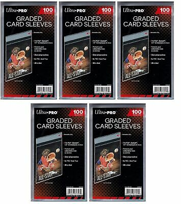 500 Ultra Pro Graded Card Sleeves Resealable Strip  Bags New No PVC