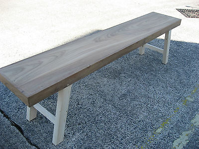 Unusual Teak and pine bench, seat,kitchen, changing room,sports, gym