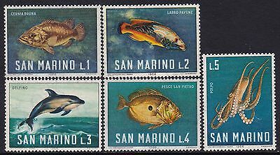 San Marino Stamps. 1966 Set Of Mint Light Hinged Stamps.