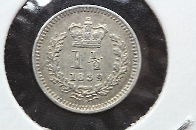 1839 Great Britain 11/2 Pence Silver (JMCW114)