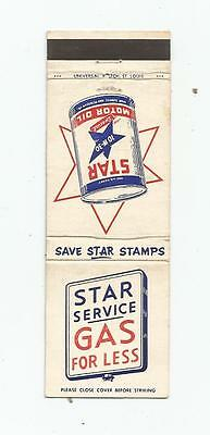 Star Gas & Motor Oil  Matchcover