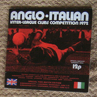 1972 Anglo-Italian Inter League Clubs Competition