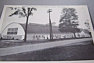 Memorial Field House Middlebury College Middlebury Vt Style Collectible Postcard