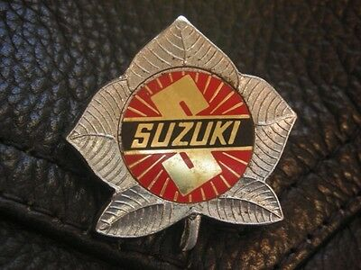 Suzuki Motorcycle Metal Insert Motorbike Bike Jacket Pin Badge