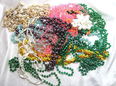 Bag O' Beads.  Make Your Own Mardi Gras Party Lots of Variety Over a Pound Beads
