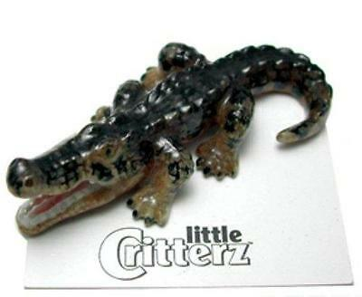 "Little Critterz Miniature Porcelain American Alligator ""Mississippi"" LC955"