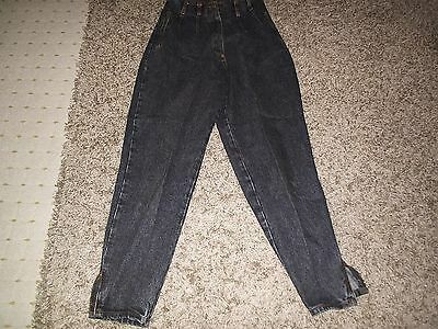 80S Vintage High Waisted Pleated Carrot Fit Jeans Small Size 12