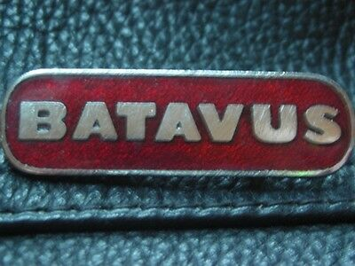 Batavus Motorcycle Enamel Motorbike Bike Jacket Pin Badge