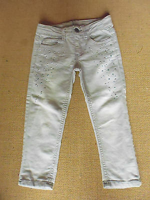Children's Unisex Cute Beige With Sequins Polycotton  Pants By Target - Size 3