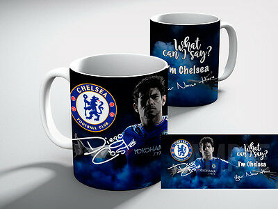 Personalised Diego Costa CHELSEA Football Club I'M CHELSEA  Mug Gift