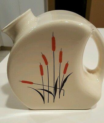 Universal Cambridge Red Outline Cattail Refrigerator Water Jug Pitcher - No Lid
