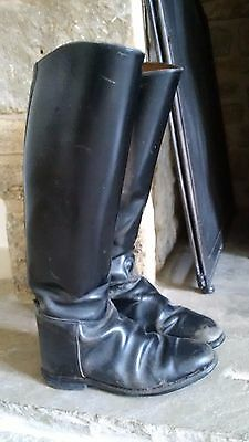 Lovely Black Old Worn Riding Boots