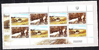 Cyprus  2001  Europa Booklet Complete 5 Sets Mint Never Hinged