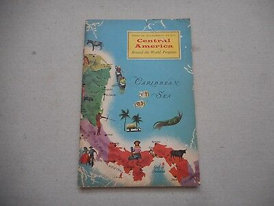 1959 CENTRAL AMERICA American Geographical Society Around the World Program BOOK