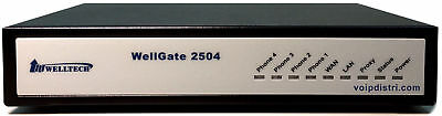Welltech WellGate 2504, 4 port Analog FXS VoIP Gateway, T38 FAX, 3CX, IPv6