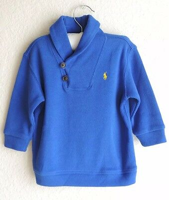 Ralph Lauren Baby Boys Pullover Sweater Blue Cotton NWT Size 12M