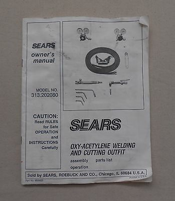 SEARS Oxy-Acetylene Welding And Cutting Outfit OWNER'S MANUAL Maintenance