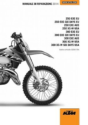 Manuali officina KTM EXC-SX-SXF-SMC-SMR-LC4-Duke-Adventure 1999-2014 in ITALIANO
