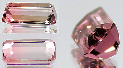 Stunning 1.25 Carats Bi-Colored Pink to Colorless Tourmaline